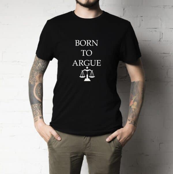 born to argue negru